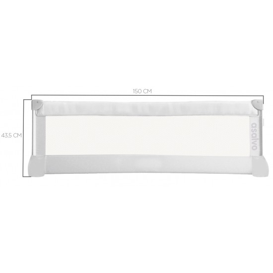 Safety Barrier Asalvo White for Bed 150 cm