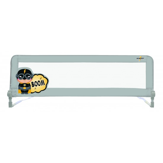 Asalvo 2 in 1 Safety Barrier - Captain Asalvo Grey Bed