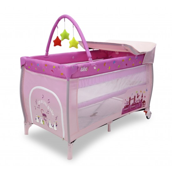 Asalvo Mix Plus London Pink Travel Cot
