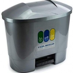 50 litre Waste Bin with 3 Recycling Compartments Grey