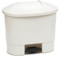 50 litre Waste Bin with 3 Recycling Compartments White