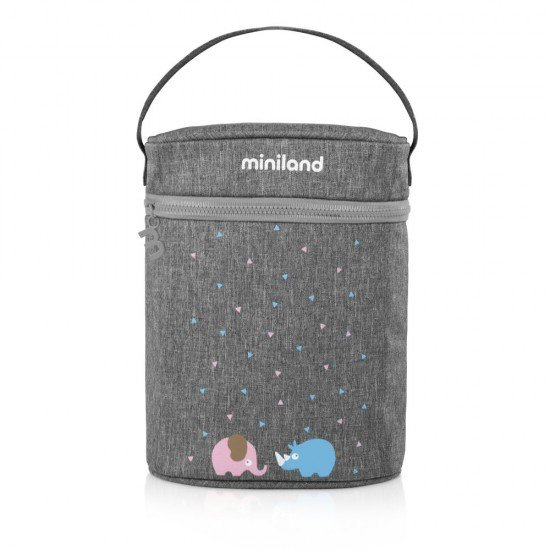 Isothermal Bag Miniland Double Thermibag Azure-Rose gray