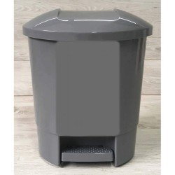 30 Litre Recycling Bin with 3 Recycling Compartments Grey