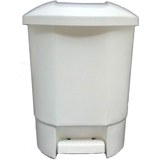 30 Litre Recycling Bin with 3 Recycling Compartments White