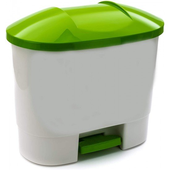 50 litre Waste Bin with 3 Recycling Compartments Green
