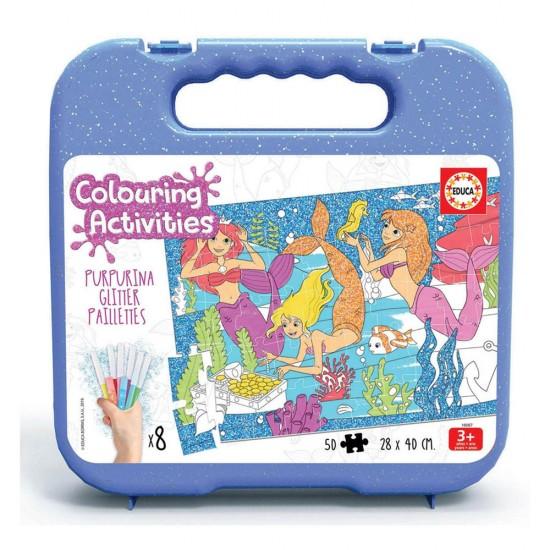 Educa Colouring 50 Sereias Glitter