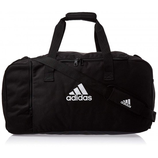 Bolsa de deporte Adidas DQ1071 color negro con bolsillo lateral 60 cm