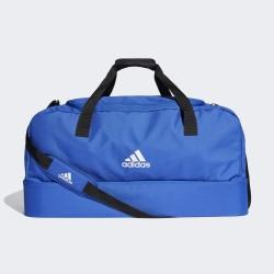 Bolsa de deporte Adidas Tiro Du azul con bolsillo inferior