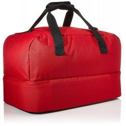 Saco despotivo Adidas Tiro Du con bolso inferior vermelho e preto