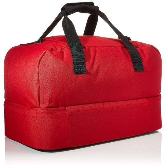 Bolsa de deporte Adidas Tiro Du rojo y negro con bolsillo inferior
