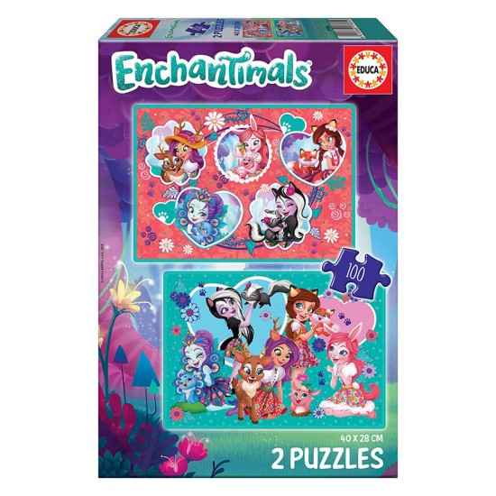 2x Puzzle 100 Enchantimals