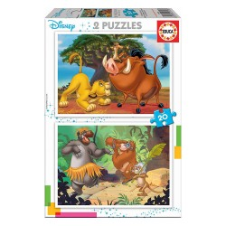 2x Puzzle 20 Disney Animais