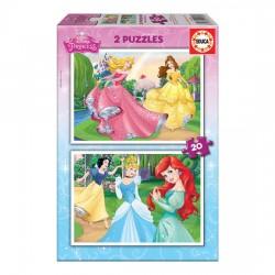 2x Puzzle 20 Disney Princess