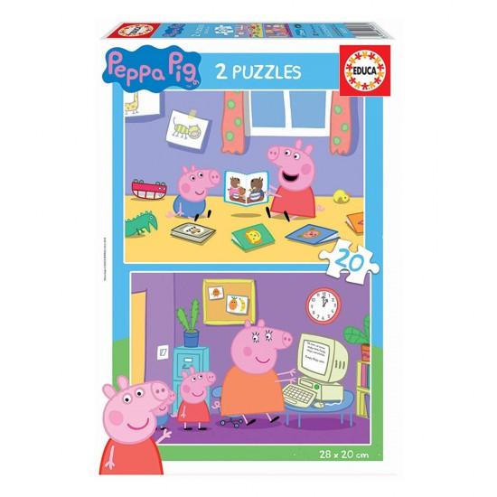 2x Puzzle 20 Peppa Pig