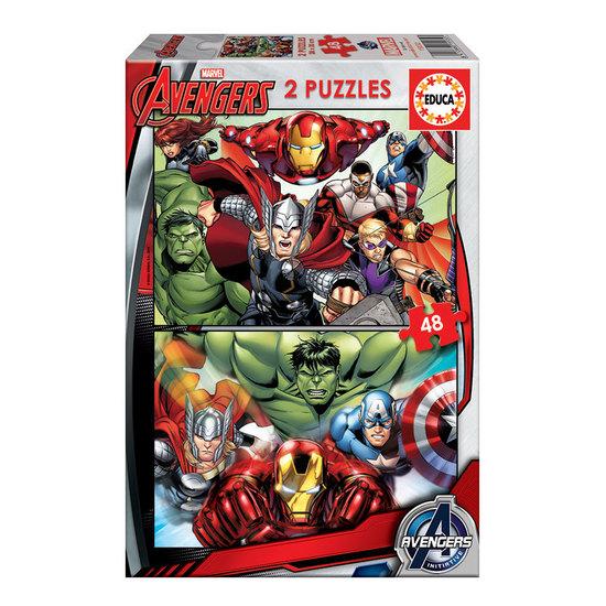 2x Puzzle 48 Avengers