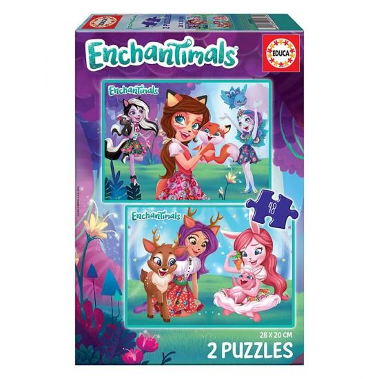 2x Puzzle 48 Enchantimals