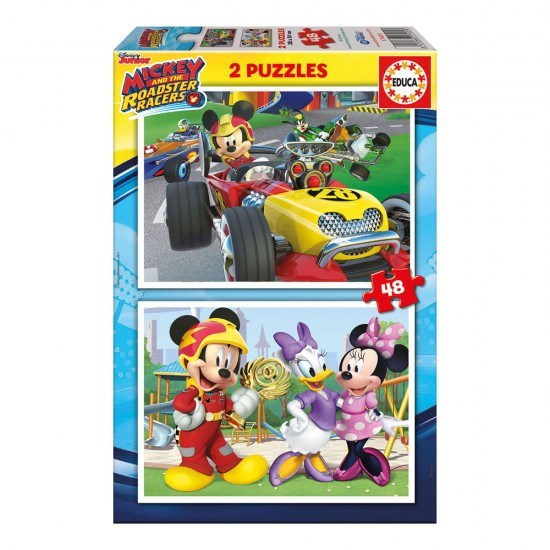 2x Puzzle 48 Mickey