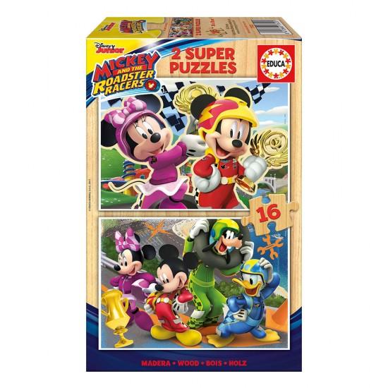2x Super Puzzle 16 Madeira Mickey