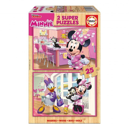 2x Super Puzzle 25 Madeira Minnie Happy Helpers
