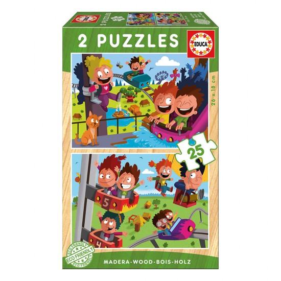 2x Super Puzzle 25 Madeira Parque Atrações