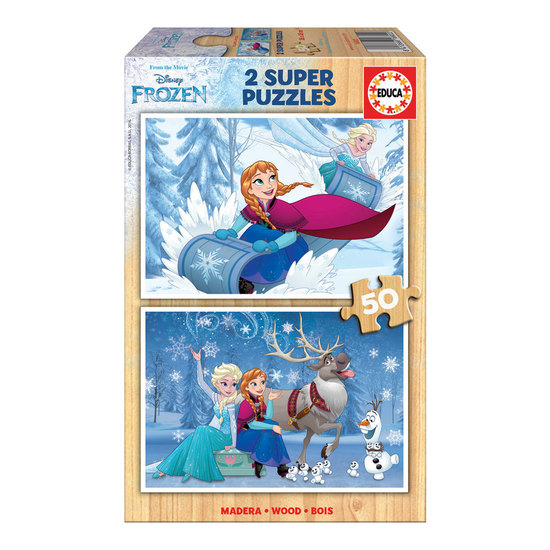 2x Super Puzzle 50 Madeira Frozen