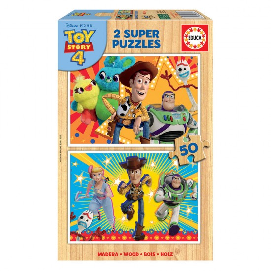 2x Super Puzzle 50 Madeira Toy Story 4