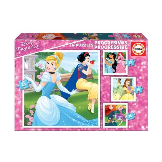 4x Puzzle Progressivo Dinsey Princess