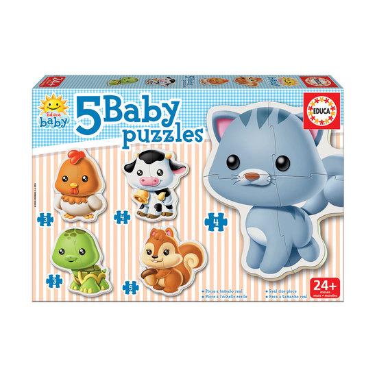 5 Baby Puzzles Animais