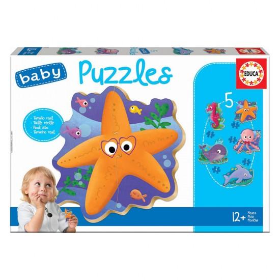 5 Baby Puzzles Animales Marinos