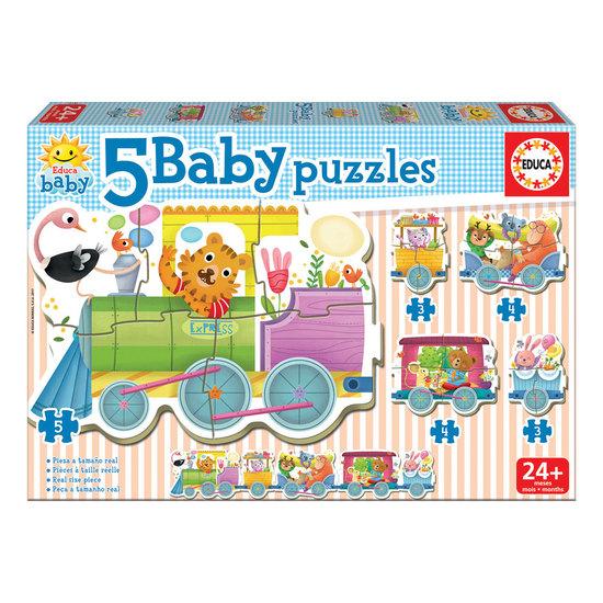 5 Baby Puzzles Comboio Animais