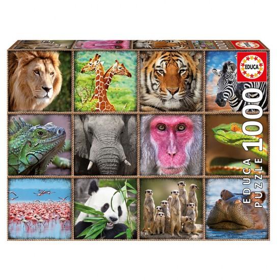 Puzzle 1000 Colagem Animais Selvagens