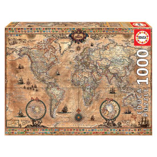 Puzzle 1000 Mapa Mundi