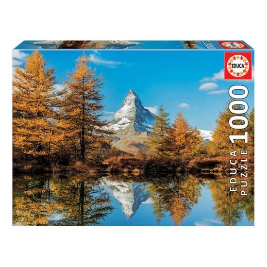 Puzzle 1000 Monte Cervino en el Otoño