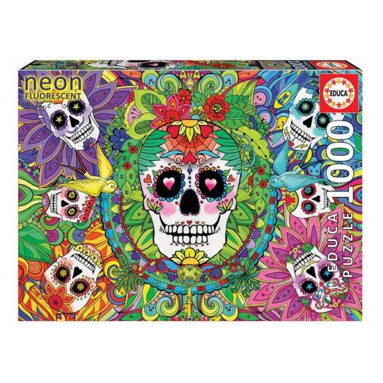 Puzzle 1000 Neon Caveiras Mexicanas