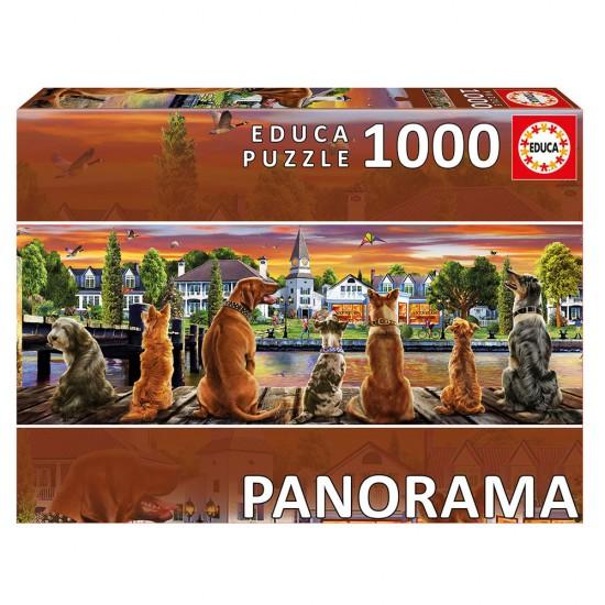 Puzzle 1000 Cães no Cais Panorama
