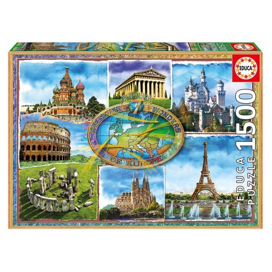 Puzzle 1500 Sete Maravilhas Europa