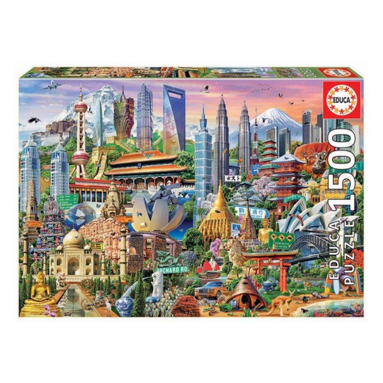 Puzzle 1500 Símbolos da Ásia