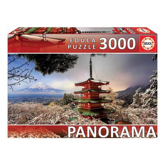 Puzzle 3000 Monte Fuji e Pagode Chureito Panorama