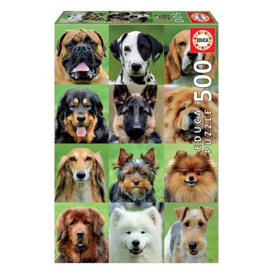 Puzzle 500 Collage de Perros
