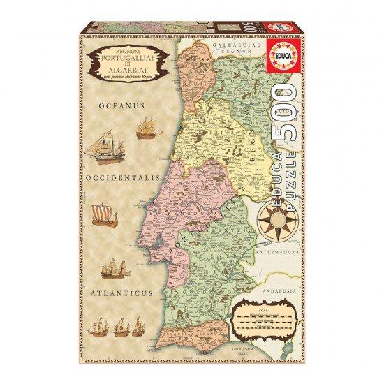 Puzzle 500 Mapa Portugal 1710