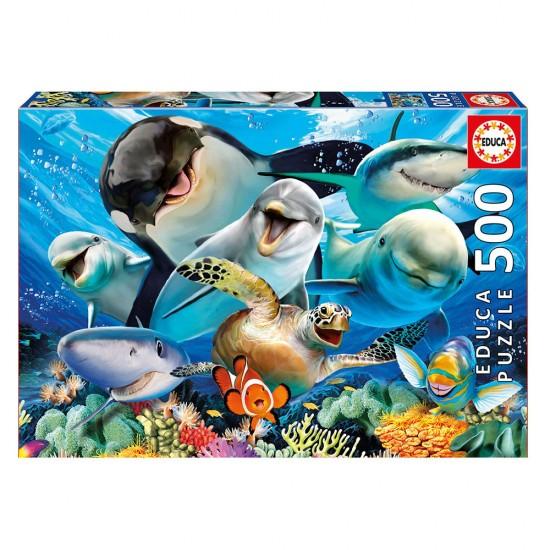 Puzzle 500 Selfie Bajo el Agua