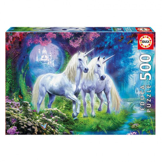 Puzzle 500 Unicornios en el Bosque