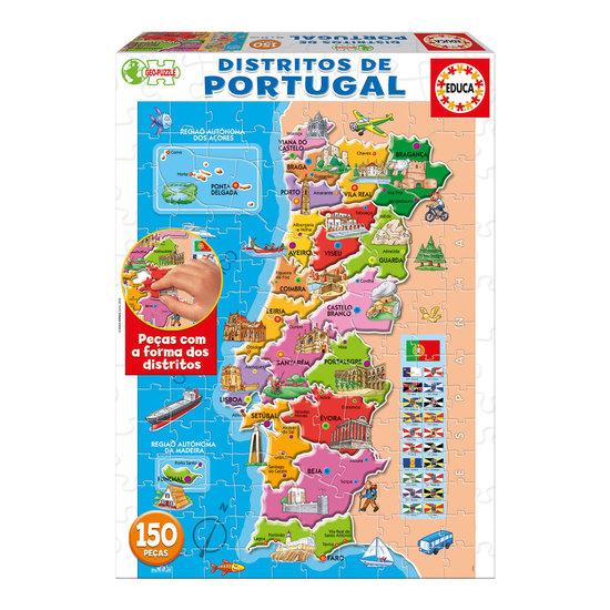 Puzzle Junior Distritos Portugal 150