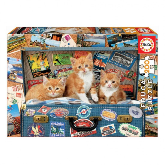 Puzzle Junior 200 Gatinhos Viajantes