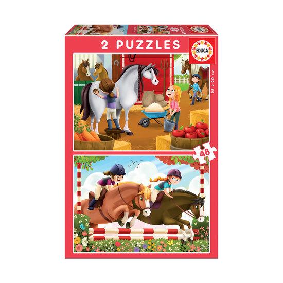 Puzzle Junior 2X48 Guardián de Caballos