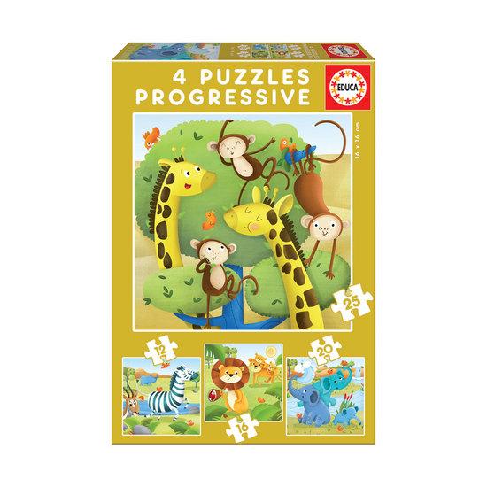 Puzzle Progresivo Animales Salvajes