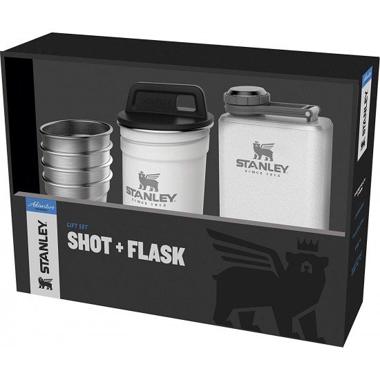 Stanley Set 4 glasses (0,59ml) + flask Adventure Green