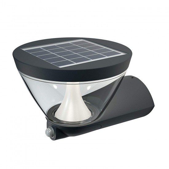 Osram Led wall-outdoor Luminaire - Endura Style Lantern Solar - additional integrated solar panel - Aluminium Body - dark grey 5 Watt warm white 3000K
