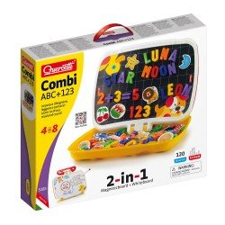 Quercetti Little Bag Board Magnetic Letters + Numbers 120 pieces