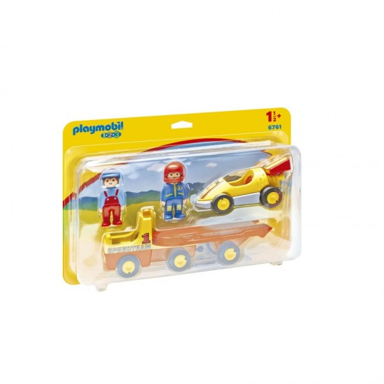 Playmobil 1.2.3 Race car with transport - 6671